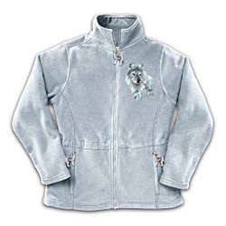 Spirit of the Wilderness Women's Fleece Jacket with Wolf Art