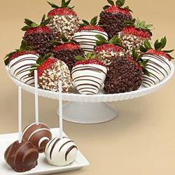 12 Fancy Berries & 4 Brownie Pops