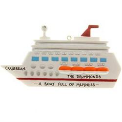 "Personalized ""A Boat Full of Memories"" Cruise Ornament"