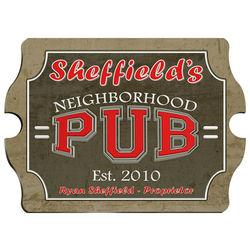 Vintage Personalized Neighborhood Pub Sign