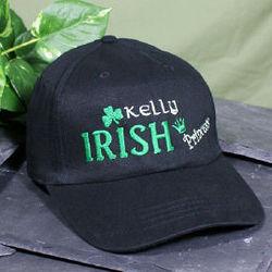 Embroidered Irish Princess Black Hat