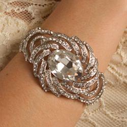 Fancy Rhinestone Jeweled Starburst Bracelet