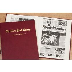 New York Times Minnesota Twins Fan Personalized Team Book