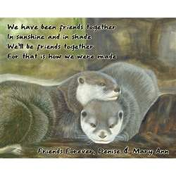 Otterly Together Personalized Print