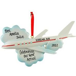 Personalized Adoption Airplane Ornament