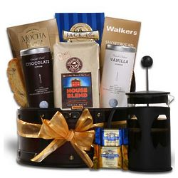 French Press Coffee Gift Basket