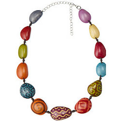 Tagua Nut Batik Necklace