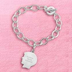 Boy's Silhouette Charm Bracelet