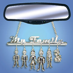 Charming Family Car Mirror Decoration