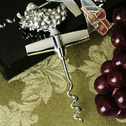Chrome Grapes Design Wine Opener