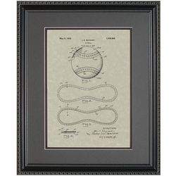 Baseball Framed Patent Art Print