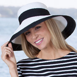Lyndi Ribbon Trim Straw Hat