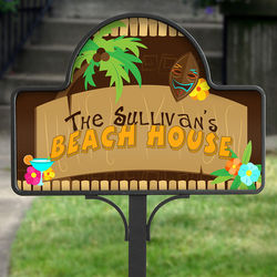 Tropical Paradise Personalized Yard Stake