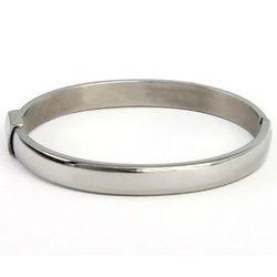 Stainless Steel Oval Bangle Bracelet