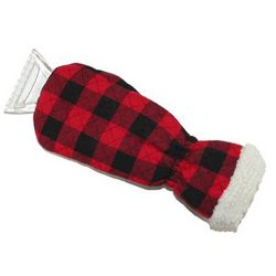 Ice Scraper with Quilted Plaid Mitten