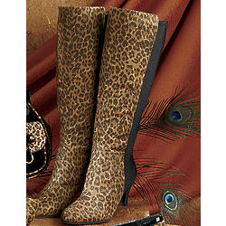 Freshica Stretch Back Leopard Print Boot