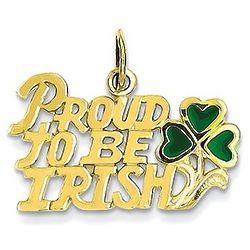 Proud To Be Irish Pendant in 14 Karat Gold