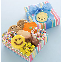 Happy Face Cookies and Treats Gift Box
