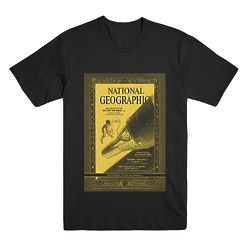 National Geographic Vintage Moon T-Shirt in Yellow and Black