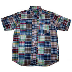 Men's Chesapeake Bay Madras Patchwork Shirt
