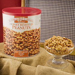 Honey Roasted Virginia Peanuts - 4 Pound Can