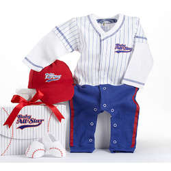 """Big Dreamzzz"" Baby Baseball Outfit 3-Piece Layette Set"
