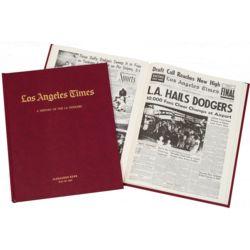 Dodgers Fan Personalized Team Book