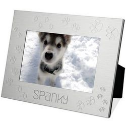 Personalized Paw Print Photo Frame