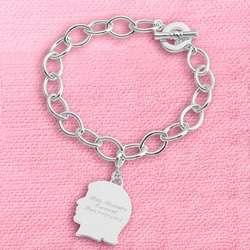 Girl's Silhouette Charm Bracelet