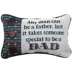 Any Man Can Be a Father Word Pillow