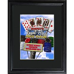 Personalized Marquee Daytime Royal Flush Poker Framed Print