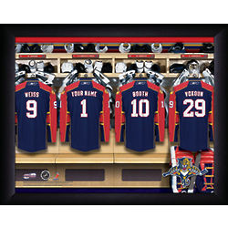 Personalized Florida Panthers Locker Room Print
