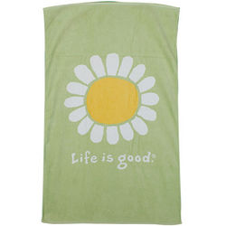 Citron Green Life Is Good Sunflower Bath Towel