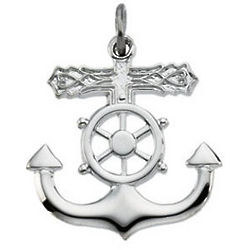 Sterling Silver Mariner's Cross Necklace