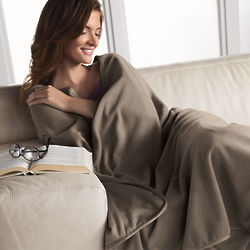 Mocha Performance Throw Blanket