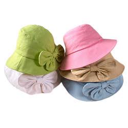 Cotton Bow Trim Hat