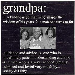 Personalized Grandpa Definition Photo Frame