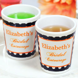 Personalized Bridal Entourage Party Shot Glasses