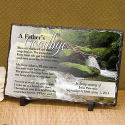 A Father's Goodbye Personalized Plaque