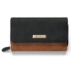 Women's Alfred Durante Designer Wallet in Whiskey Brown and Black