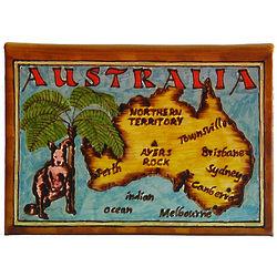 Australia Map Leather Photo Album in Color