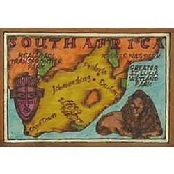 South Africa Map Leather Photo Album In Color