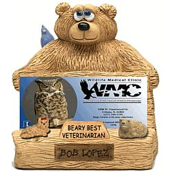Personalized Bear Business Card Holder for Veterinarian