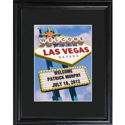 Personalized Vegas Framed Print