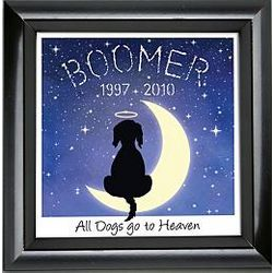 Personalized All Dogs Go to Heaven Print