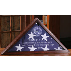Personalized Maple Wood Burial Flag Case