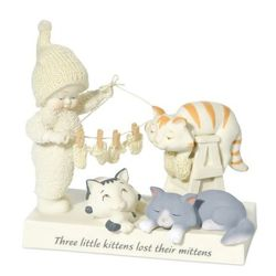 Snowbabies Guest Collection Three Little Kittens Figurine