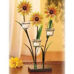 Daisies Metal Tealight Candle Tree
