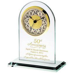 50th Anniversary Personalized Glass Clock