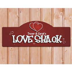 Love Shack Personalized Wall Sign